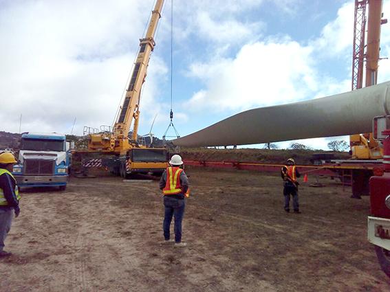 Logistica parque eólico Honduras
