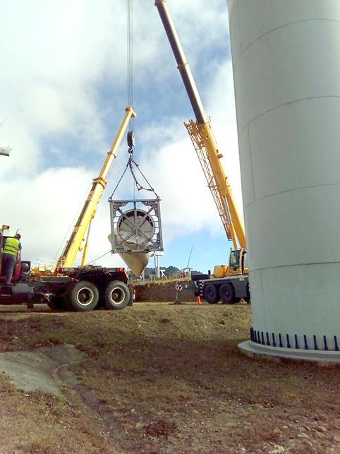 logistica parque eolico