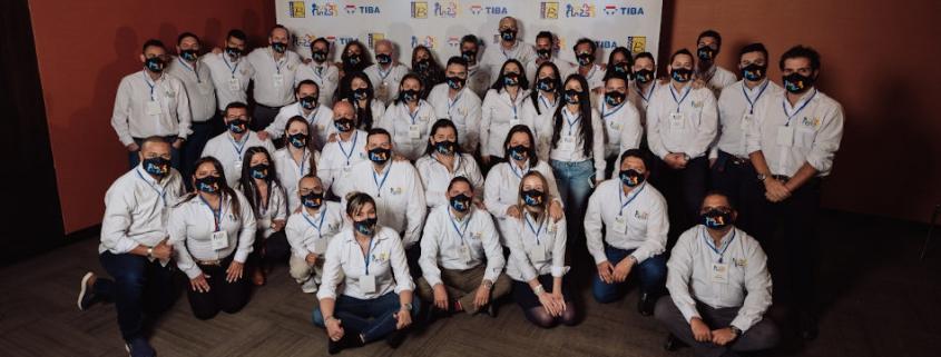 ilia Benavides, los principales directivos de Bemel, Javier Romeu y otros directivos de TIBA